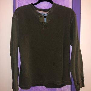 Old Navy Olive Green Button Up Sweater